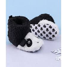 Buy KIDLINGSS <b>Ankle Length</b> Panda Booties <b>Black</b> for <b>Girls</b> (12 ...