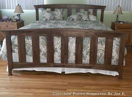 handmade walnut beds customer review american made in vermont built bedroom furniture moduluxe