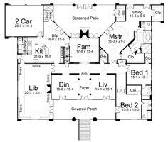 House plans  Floor plans and Courtyards on Pinterest