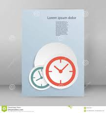 clock theme brochure cover page a stock vector image  clock theme brochure cover page a4
