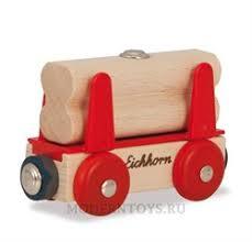 Деревянная железная дорога Eichhorn Грузовой <b>вагон с бревнами</b>