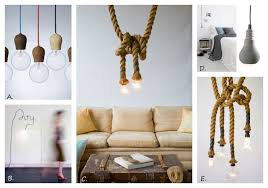 image a pendant light bare bulb lighting