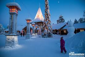 Деревня <b>Санта</b> Клауса в Рованиеми. Полярный круг, Лапландия ...
