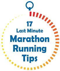 last minute marathon running tips fit girl s diary