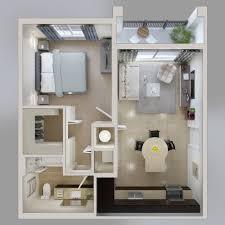 Modern One Bedroom Apartment Design One Bedroom Apartment Plan Mesmerizing Interior Design Ideas