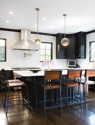 nursing stool kitchen transitional with black cabinets black kitchen island chair back counter stools glass globe black kitchen island lighting