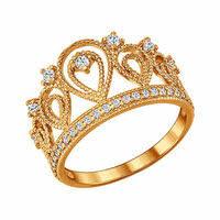 <b>Позолоченное кольцо</b> «<b>Корона</b>» <b>SOKOLOV</b>