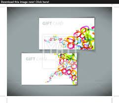 modern gift card templates vector com vector of modern gift card templates