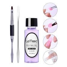 <b>Lemooc</b> 20ml Poly UV <b>Gel</b> Liquid Slip Solution <b>Nail</b> Tips Quick ...