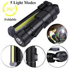 High Quality LED <b>Flashlight</b> 5 Light Modes <b>COB LED Rechargeable</b> ...