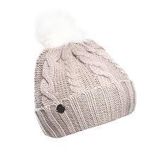New Balance <b>Women's Lux Knit Pom</b> Beanie, Flat White, One Size ...