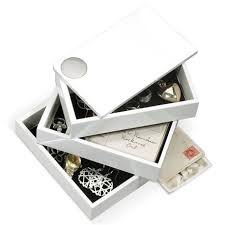 <b>Шкатулка Spindle белая</b>, Umbra купить в интернет магазине ...
