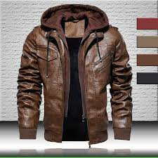 best <b>men</b> bomber faux <b>leather jacket</b> with <b>hooded men</b> brands and ...