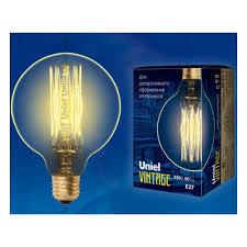 <b>Лампа</b> накаливания <b>Uniel IL</b>-<b>V</b>-<b>G95</b>-<b>60</b>/<b>GOLDEN</b>/<b>E27</b> VW01 ...