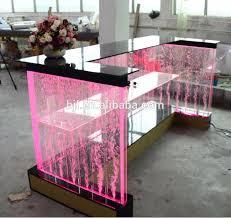 custom made logo sticker led furniture acrylic night club bar counterreception deskfront acrylic lighted reception desk reception counter design