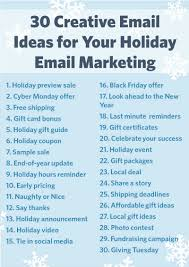 30 creative ideas for your holiday email marketing constant turn these ideas into action
