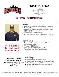 resume baseball coach resume baseball coaching resume templates high school baseball coach resume high school coaching resume