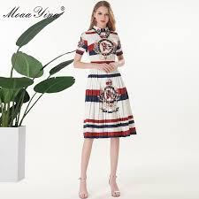 MoaaYina Fashion Designer Runway dress Spring Summer Women ...