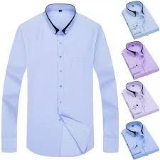 Business Mens Plaid Shirts Fashion Long Sleeved Striped ... - Vova