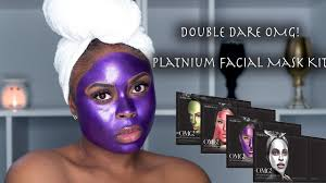 TRYING OUT <b>DOUBLE DARE</b> PLATINUM MASK KIT - YouTube