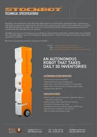 stockbot pal robotics pdf catalogue technical documentation stockbot 1 2 pages