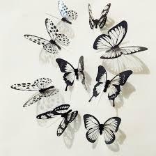 Настенные стикеры <b>набор</b> 12 шт <b>бабочки 3D DIY</b> настенные ...