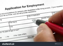 completing an job application form focus on heading stock completing an job application form focus on heading preview save to a lightbox