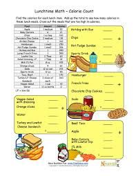 Menu Math Worksheets Free Printable - 6 best images of free ...Calorie count math worksheet for elementary school children
