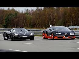 [4k] 50-350+ km/h RACE Bugatti Veyron <b>Vitesse vs</b> Koenigsegg ...