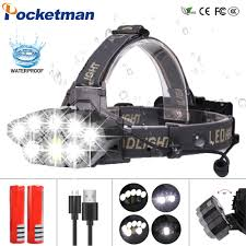 LED Headlamp <b>60000Lm</b> 2*T6+5*XPE+COB HeadLight 6Modes ...