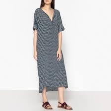 <b>Платье</b> длинное из шелка с тунисским вырезом rona наб ...