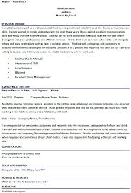 waiter   waitress cv examples   job seekers forums