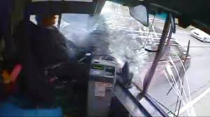 Runaway <b>Bus</b> Crashes into <b>7 Cars</b> - YouTube