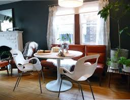 Acrylic Dining Room Chairs Dining Room Round White Ikea Tulip Table With Two Acrylic Chairs