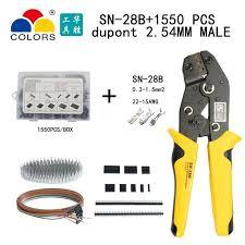 <b>SN</b>-<b>28B dupont crimp tool</b> 1550PCS 2.54mm Dupont Connector Kit ...