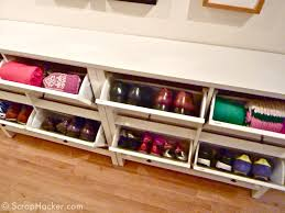 shelves give storage furniture long white flip wooden shoe shelves placed on the brown wood