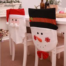 ATL  <b>Lovely Santa Claus</b> Snowman Chair Back Cloth Cover Home ...