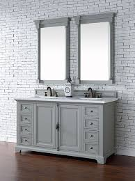 bathroom features gray shaker vanity: james martin providence double  inch urban gray transitional bathroom vanity with top