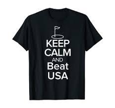 TEAM EUROPE T-Shirt Keep Calm and beat USA Golf ... - Amazon.com
