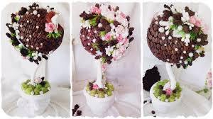 ТОПИАРИЙ из КОФЕ с ШИШКАМИ | DIY Topiary Tree of coffee and ...