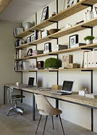 office space as an extension of a wall shelving unit vs my feng shui fears of having my back exposed detailfor the homehipster apartmentshomehome cheap office shelving