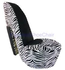 Zebra and <b>Black High Heel</b> Shoe <b>Chair</b> - Pirkka Ilolagas