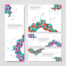 simple flyer template stock photos pictures royalty simple simple flyer template abstract geometric colorful triangles design for banners set illustration