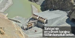Türkiye'nin en yüksek barajına 50 bin konutluk beton