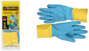 <b>Перчатки</b> STAYER <b>латексные с неопреновым</b> покрытием 11210 ...