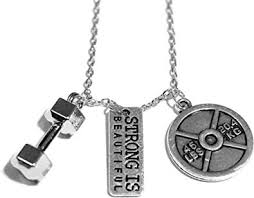 Santa Monica <b>Charm</b> Co. The Original <b>Strong is Beautiful</b> Necklace