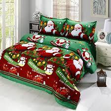 Anself <b>4pcs</b> Polyester Fiber 3D Printed Cartoon <b>Merry Santa</b> Claus ...