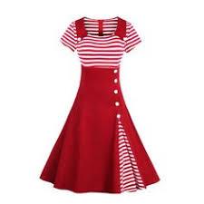 Belted Red and White <b>Stripe Vintage Dress</b> | Fashion Week | <b>Striped</b> ...