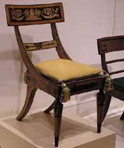 ancient greek chair form characterized by a broad top rail and curved back stiles and legs ancient greek furniture