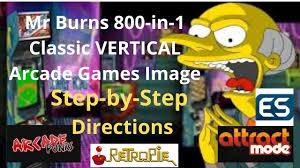 RetroPie - Mr Burns <b>800</b>-in-<b>1 Classic</b> VERTICAL Arcade Games Image